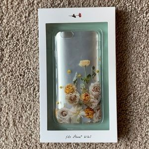 Anthropologie clear floral iPhone case 6/6S